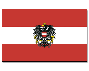 Flags Austria with Eagle 30 x 45