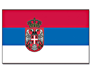 Flags Serbia with Crest 30 x 45