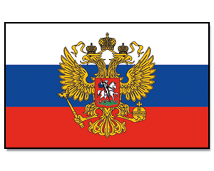 Flags Russia with Eagle 30 x 45