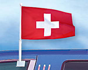 Carflag 27 x 45: Switzerland
