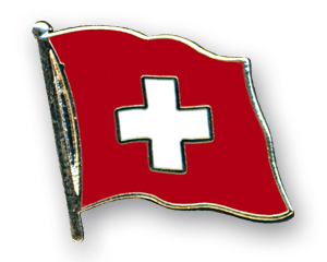 Flag Pins (swinging): Switzerland