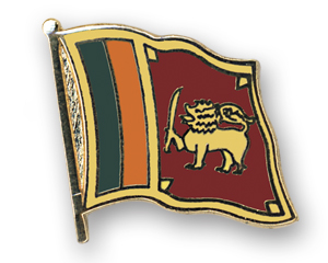Flag Pins (swinging): Sri Lanka