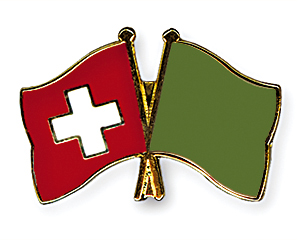 Crossed Flag Pins: Switzerland-Libya (1977-2011)