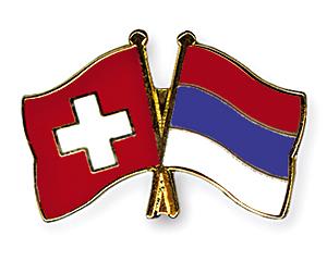 Freundschaftspins: Schweiz-Serbien