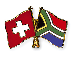 Crossed Flag Pins: Switzerland-South Africa