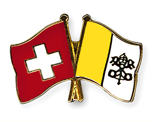 Crossed Flag Pins: Switzerland-Vatican City