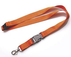 Lanyards 20 mm mit KSV + SV orange