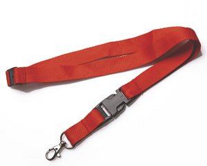 Lanyards 20 mm with KSV + SV red